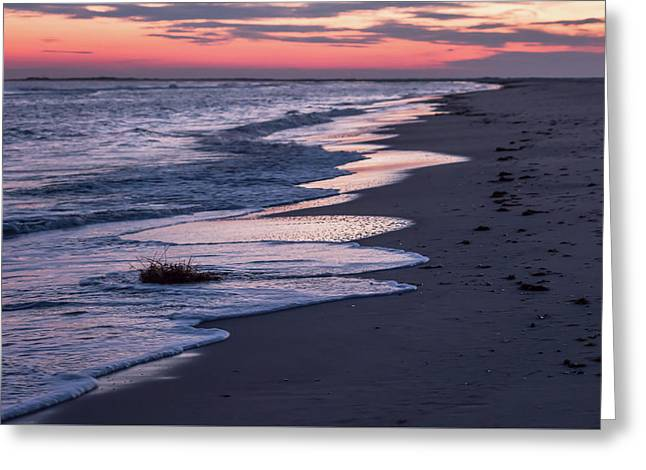 Sunset And Sea Foam Holgate Nj 2017 Greeting Card by Terry DeLuco