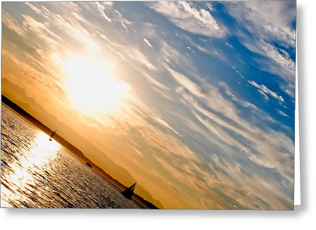 Sunset Angle Greeting Card by Tom Dowd