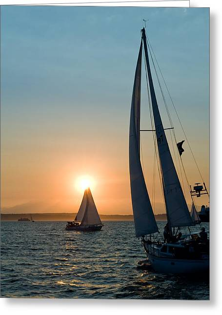 Sunset Apex Greeting Card by Tom Dowd