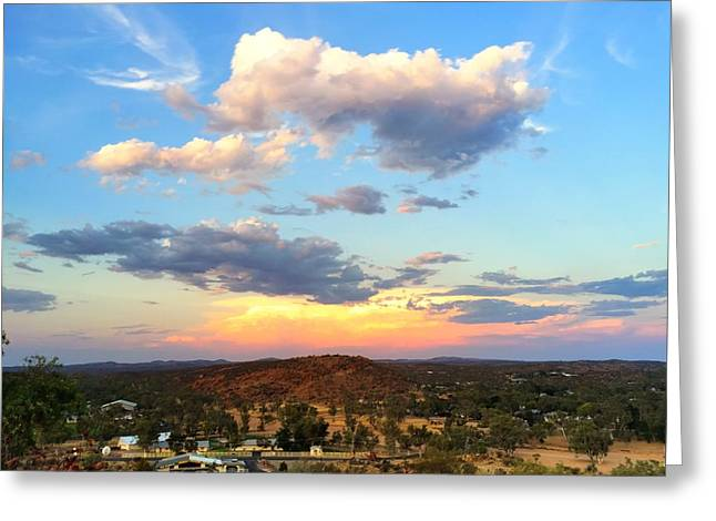 Sunset At Alice Springs #2 Greeting Card