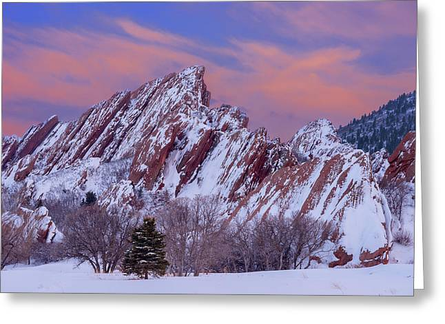 Sunset At Arrowhead Greeting Card by Darren White