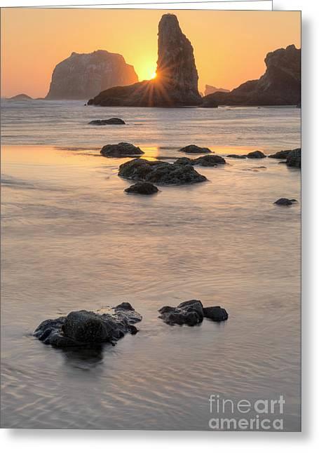 Sunset At Bandon Greeting Card