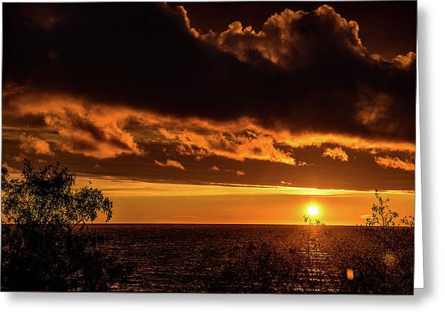 Greeting Card featuring the photograph Sunset At Bay Harbor by Onyonet  Photo Studios