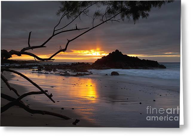 Greeting Card featuring the photograph Sunset At Beach 69 - Hawaii by Charmian Vistaunet