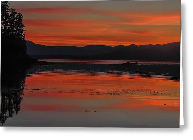 Sunset At Brothers Islands Greeting Card