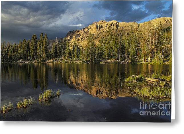 Sunset At Butterfly Lake Greeting Card