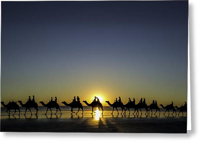 Sunset At Cable Beach Greeting Card