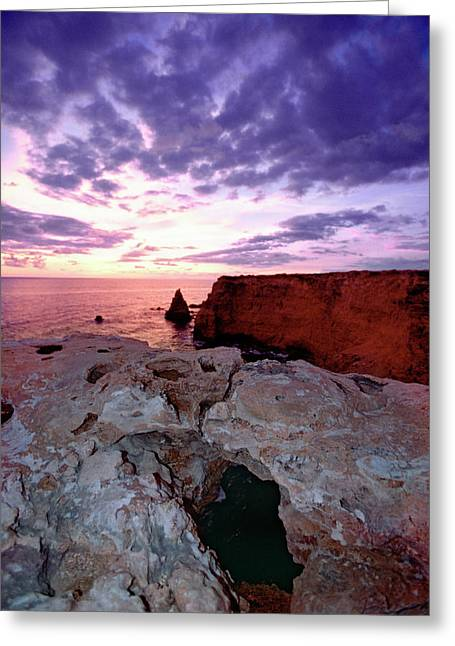 Sunset At Cabo Rojo Greeting Card by George Oze