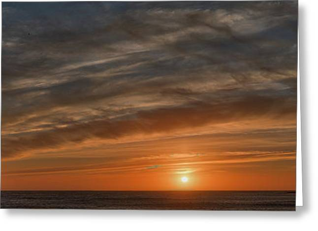Sunset At Cape Kiwanda Greeting Card