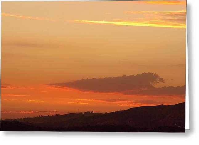 Sunset At Carbon Canyon Greeting Card by Viktor Savchenko