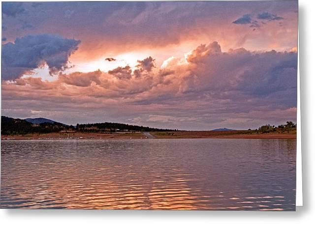 Sunset At Carter Lake Colorado Greeting Card