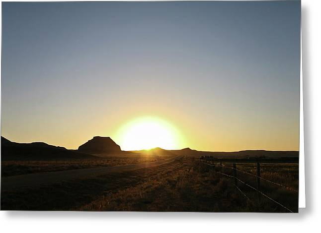 Sunset At Castle Butte Sk Greeting Card