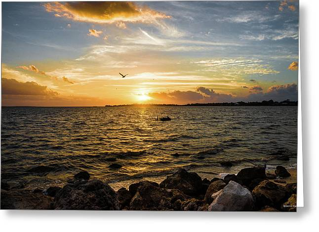 Sunset At Cedar Key Greeting Card