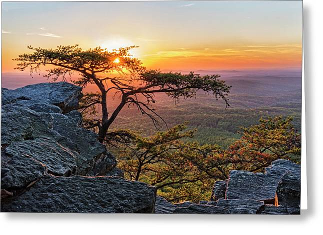 Sunset At Cheaha Overlook 1 Greeting Card