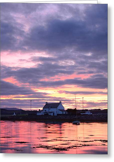 Sunset At Clachnaharry Greeting Card