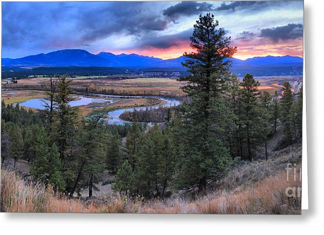 Sunset At Columbia Wetlands Greeting Card by Adam Jewell