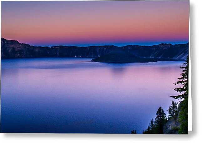 Sunset At Crater Lake Greeting Card by Michele James
