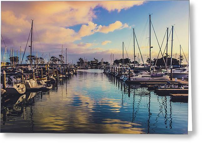 Sunset At Dana Point Harbor Greeting Card