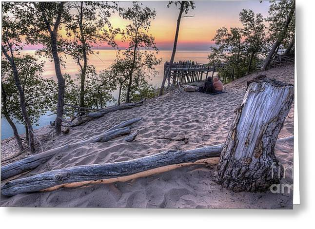 Sunset At Dunes Greeting Card by Twenty Two North Photography