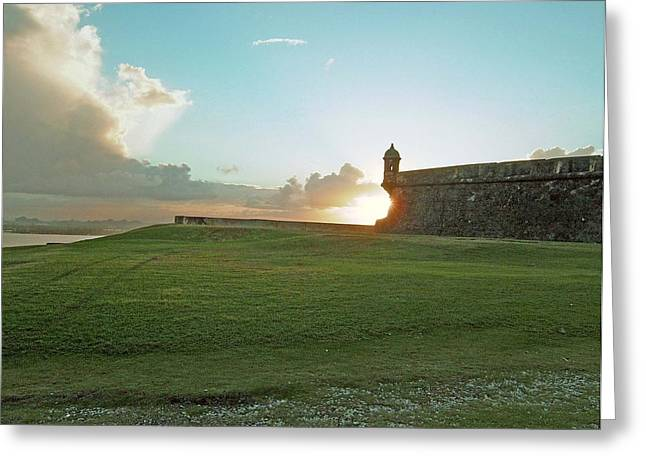 Greeting Card featuring the photograph Sunset At El Morro by Gary Wonning