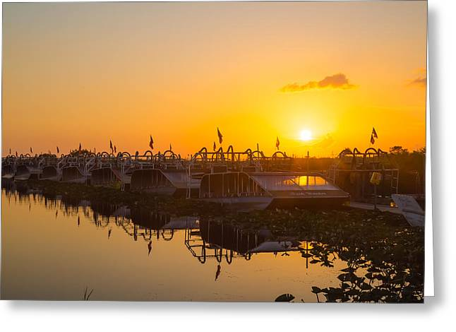 Sunset At Everglades Holiday Park Greeting Card