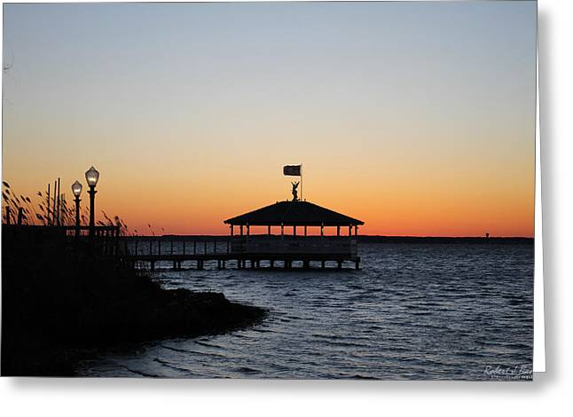 Sunset At Fagers Island Gazebo Greeting Card