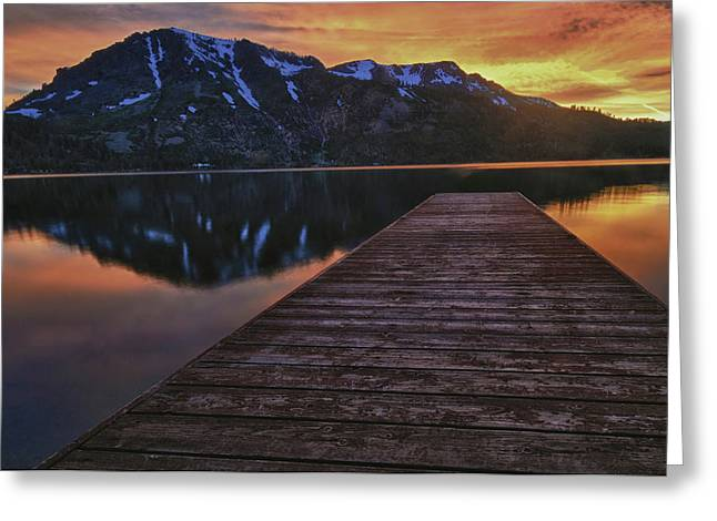 Sunset At Fallen Leaf Lake Greeting Card