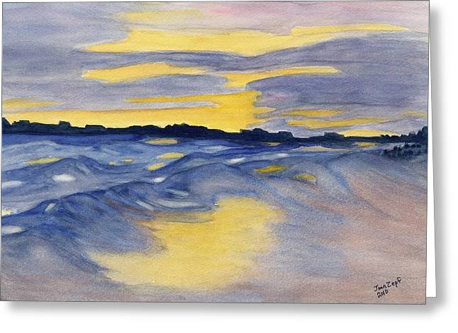 Sunset At Fripp Greeting Card