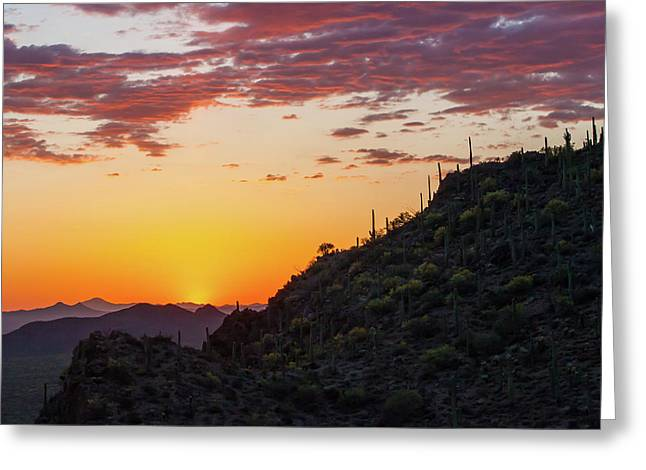 Sunset At Gate's Pass Greeting Card