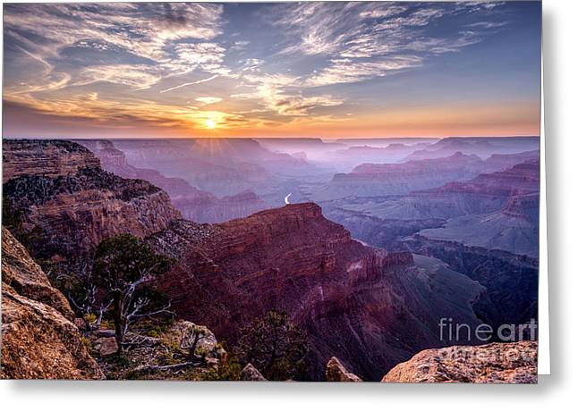 Sunset At Grand Canyon Greeting Card