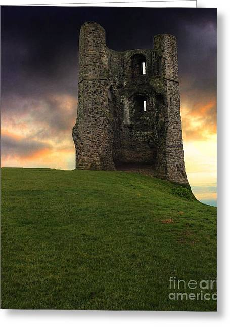 Sunset At Hadleigh Castle Greeting Card