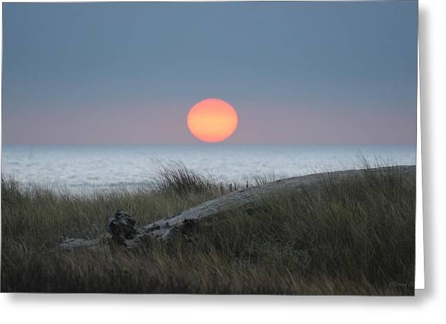 Sunset At Halfmoon Bay Greeting Card