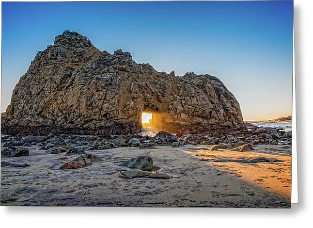 Sunset At Hole In The Rock Greeting Card by James Hammond