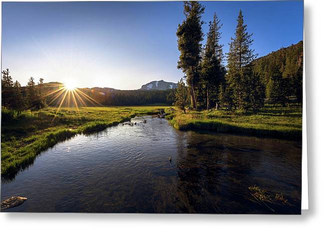 Greeting Card featuring the photograph Sunset At Kings Creek In Lassen Volcanic National by John Hight