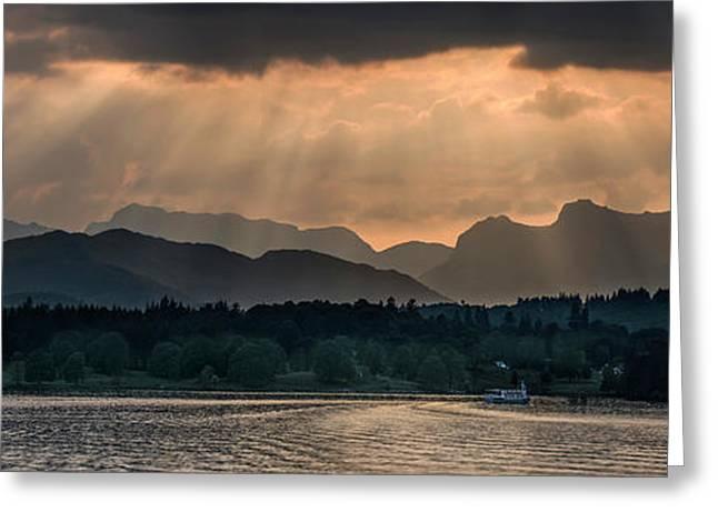 Sunset At Lake District Greeting Card by Jaroslaw Blaminsky