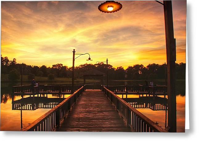 Sunset At Lake Patsy  Greeting Card