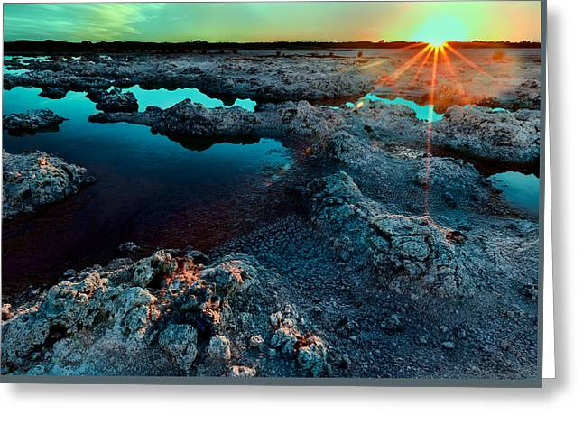 Greeting Card featuring the photograph Sunset At Lake Walyungup by Julian Cook