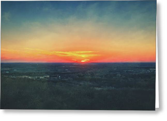 Greeting Card featuring the photograph Sunset At Lapham Peak #3 - Wisconsin by Jennifer Rondinelli Reilly - Fine Art Photography