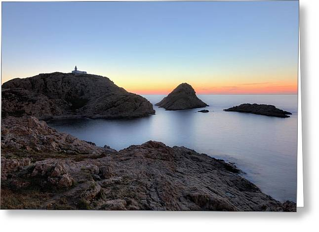 sunset at L'Ile Rousse - Corsica Greeting Card