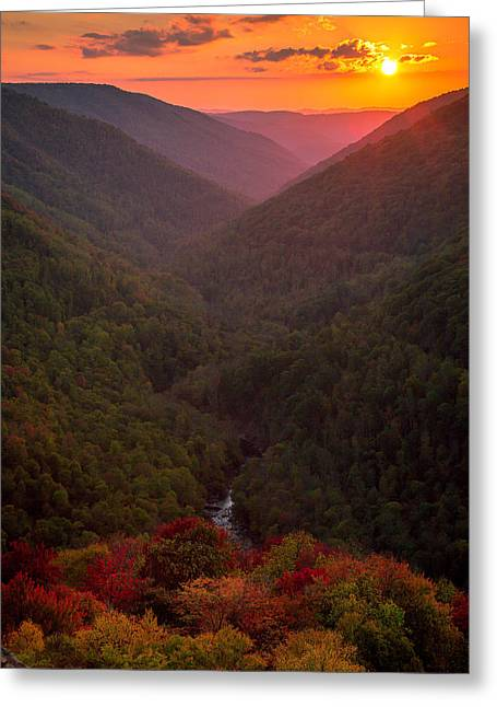 Sunset At Lindy Point Greeting Card by Jackie Novak