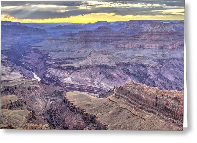 Sunset At Lipan Point Greeting Card