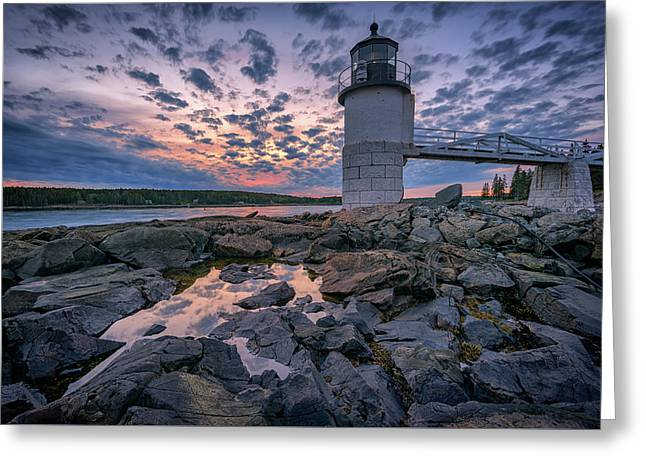 Sunset At Marshall Point Greeting Card