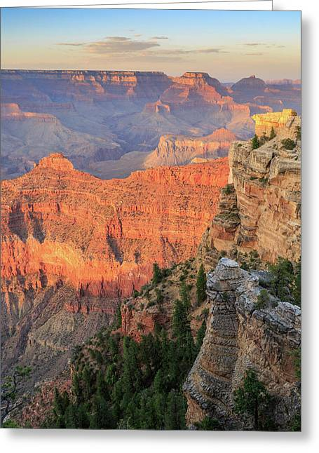 Sunset At Mather Point Greeting Card