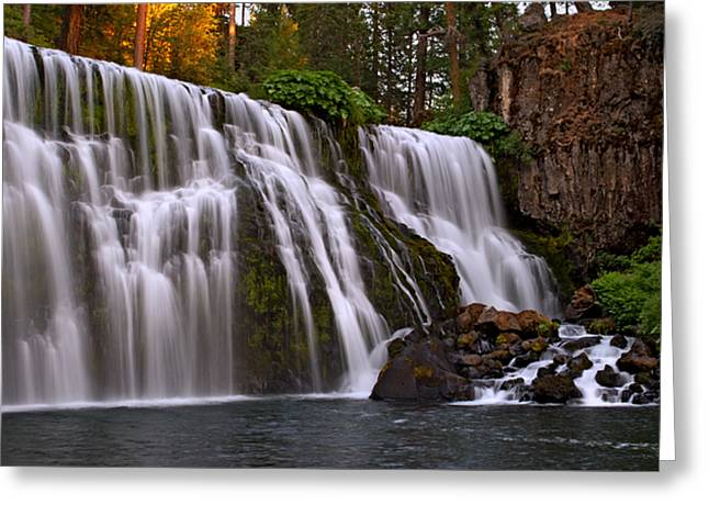 Sunset At Middle Falls Greeting Card