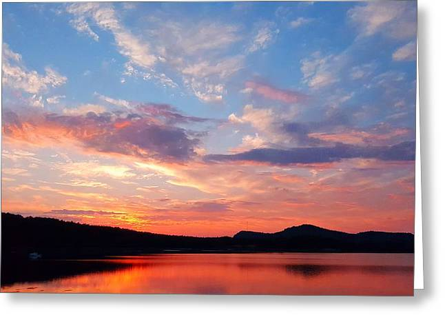 Sunset At Ministers Island Greeting Card