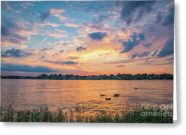 Sunset At Morse Lake Greeting Card