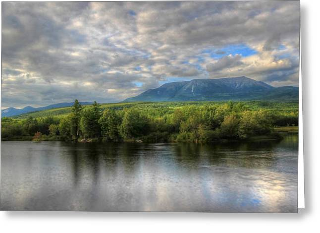 Sunset At Mt. Katahdin Greeting Card by Lori Deiter