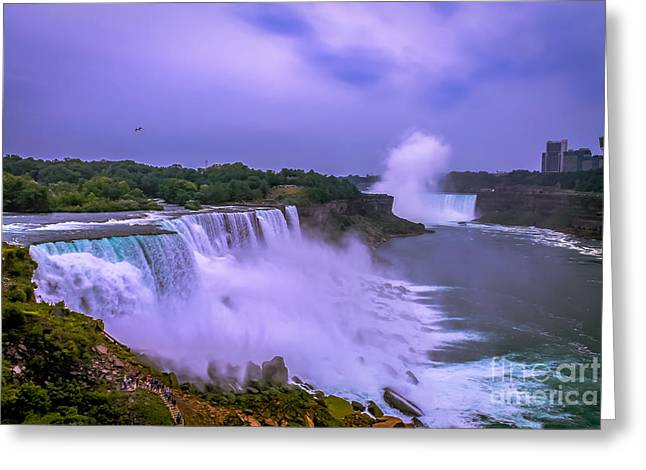 Sunset At Niagara Greeting Card