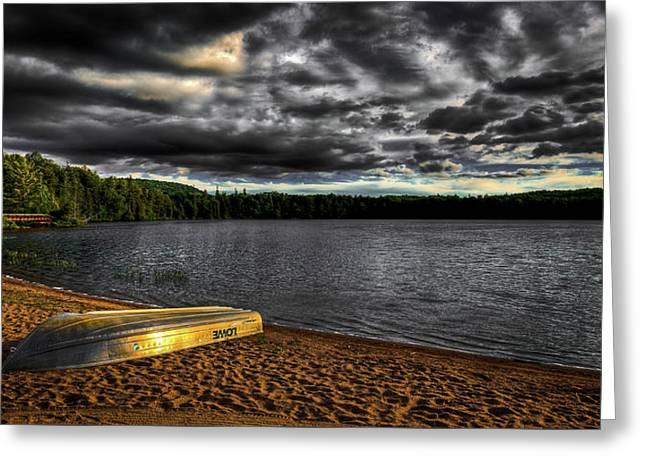 Sunset At Nicks Lake Greeting Card by David Patterson