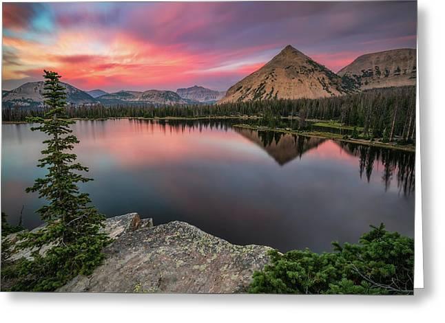 Sunset At Notch Lake Greeting Card